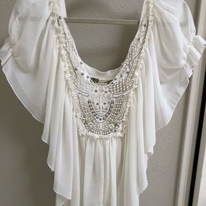 Free people flowy Ivory blouse